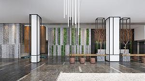 大廳,風格茶室模型3d模型