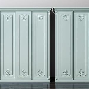 歐式衣柜模型