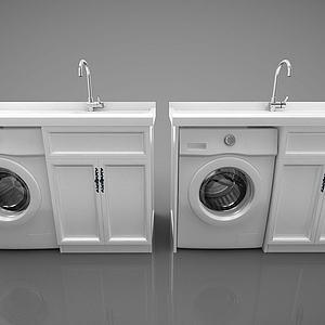 現代風格洗手臺模型