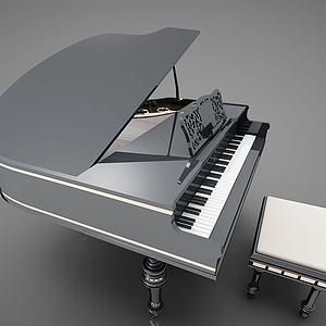 現代風格鋼琴模型