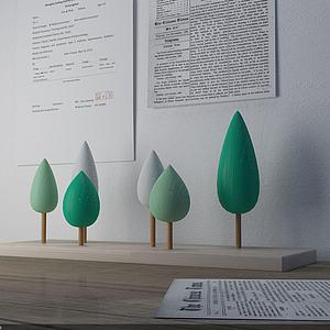 小森林擺件模型