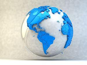 卡通創意地球模型3d模型