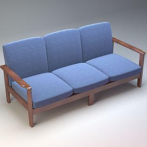 三人沙發模型
