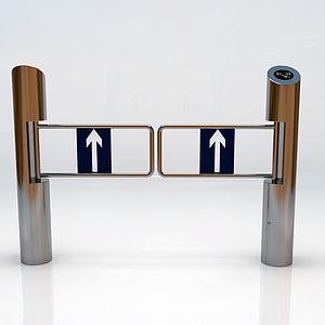 立柱擺閘模型
