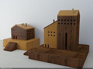 小房子擺件模型3d模型