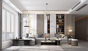 奢華客廳模型3d模型