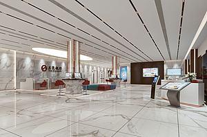 銀行大廳模型3d模型