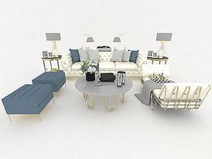 現代沙發家居組合模型3d模型
