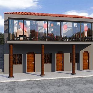 酒館外觀模型