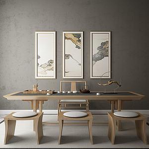 3d<font class='myIsRed'>茶桌</font>椅組合模型
