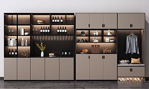 現代酒柜模型3d模型