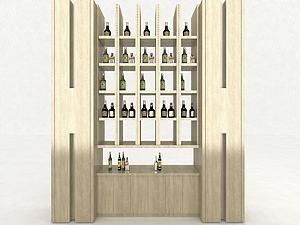 現代酒柜裝飾柜模型3d模型