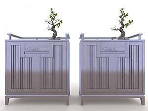 中式玄關柜裝飾柜模型3d模型