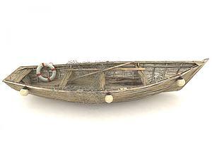 現代風格船模型3d模型