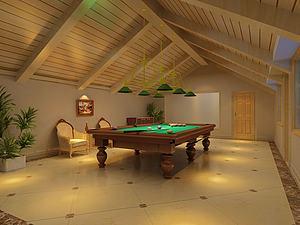 臺球室模型3d模型