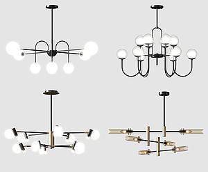 原創吊燈模型3d模型