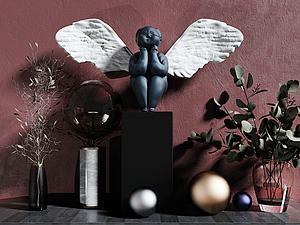 天使家具飾品模型3d模型