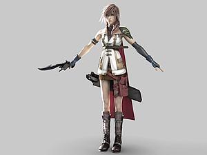 游戲女性人物模型3d模型