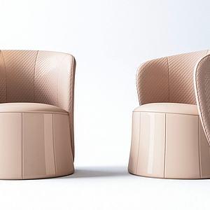 3d現代單人沙發模型