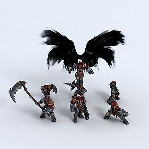 吐血奉獻-暗黑血統模型3d模型