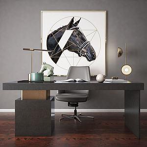 書桌模型3d模型