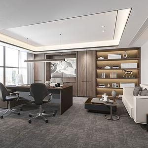 現代總經理辦公室模型