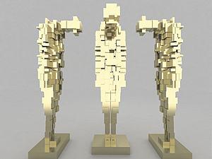 現代風格裝飾品模型3d模型