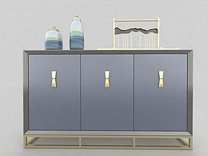 現代風格玄關柜模型3d模型