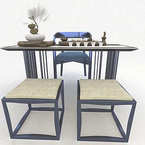 茶桌3d模型