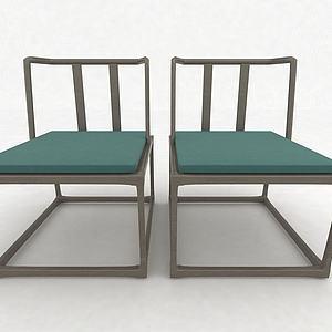 現代風格休閑椅3d模型