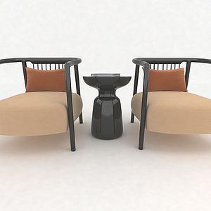 現代風格休閑沙發3d模型