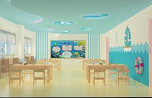 教室幼兒園教室模型3d模型