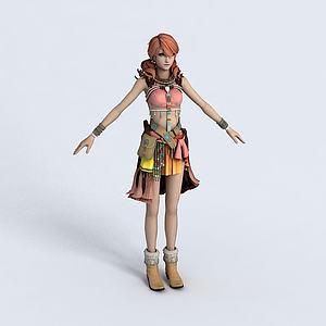 CG女生人物模型3d模型