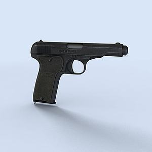 手槍3d模型