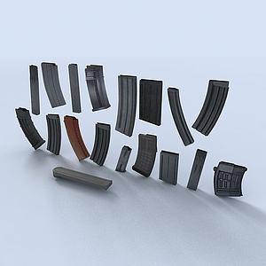 機槍彈夾3d模型
