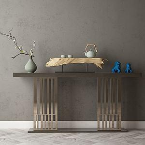 家具飾品組合玄關架模型3d模型
