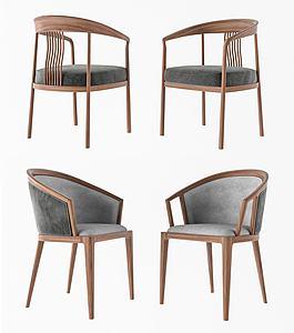 新中式椅子模型3d模型