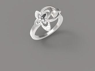 白金戒指模型