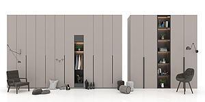 現代衣柜模型3d模型
