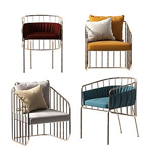 單人沙發模型3d模型