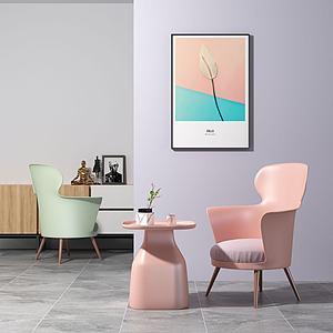 北歐沙發椅模型3d模型