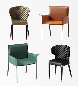 現代單椅模型3d模型