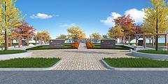 廣場景觀3D模型