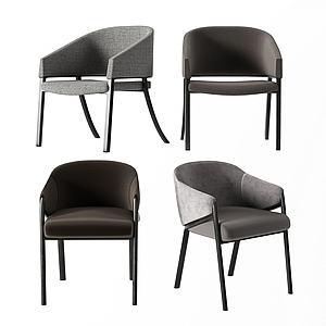現代單人椅模型3d模型