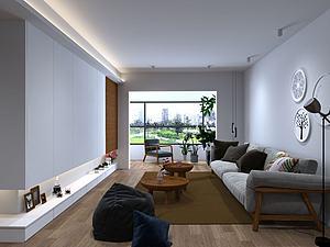 北歐客廳模型3d模型