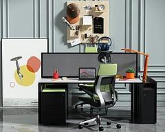 3D現代辦公書桌椅模型