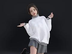 3D模型女生小蘿莉