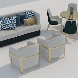 沙發桌椅3d模型
