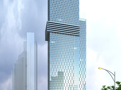 超高層辦公樓模型3d模型