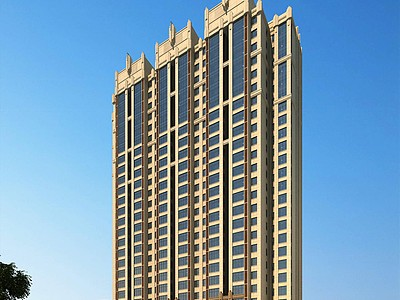 歐式住宅樓商業模型3d模型